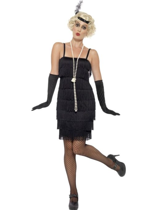short black flapper costume