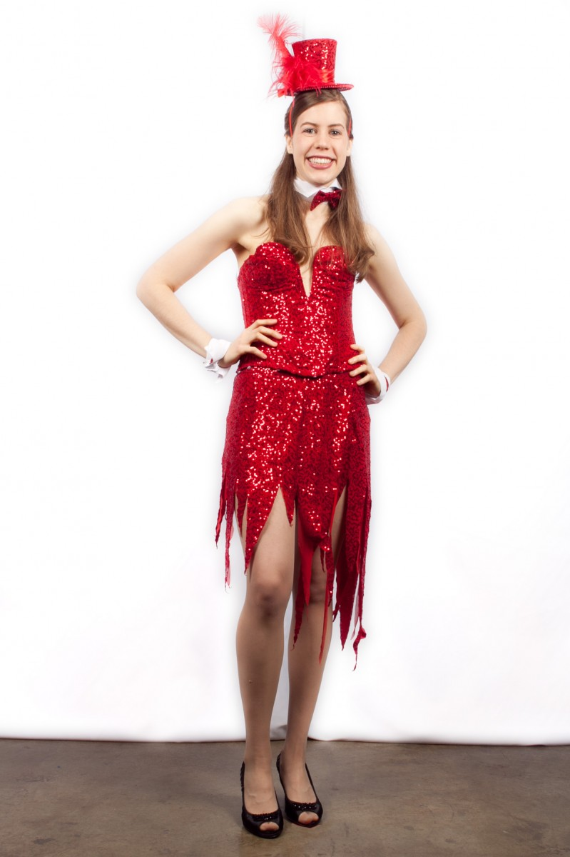 90fb6c0c78 Showgirl or Cigarette Girl - Red -Creative Costumes