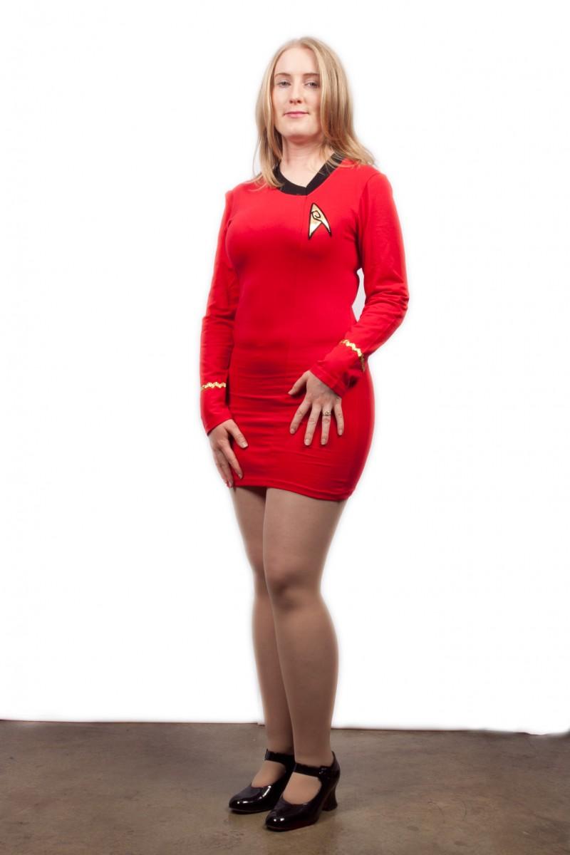 Star Trek female uniform red