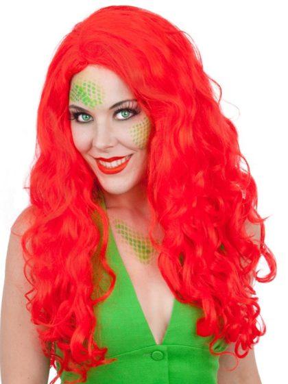 Cartoon red ariel wig