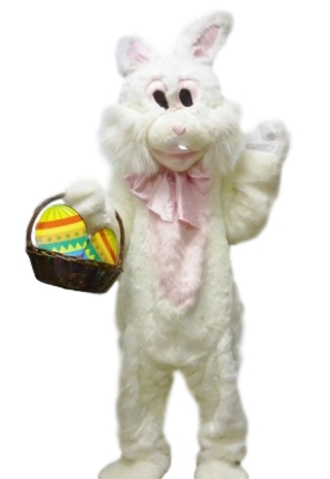 Easter bunny costume mascot