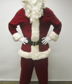 father christmas velveteen santa clause xmas costume