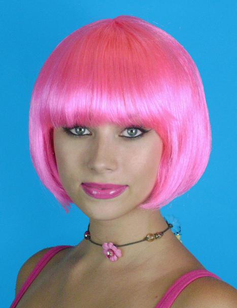 Short chin length pink bob wig for purchase. Ideal to be pink. In a ...