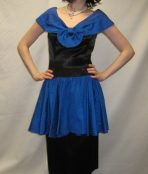 1950's blue and black