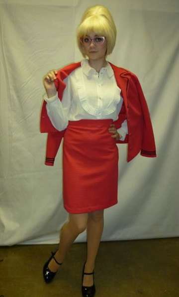 red 1950s or 1960s twin set costume creative costumes