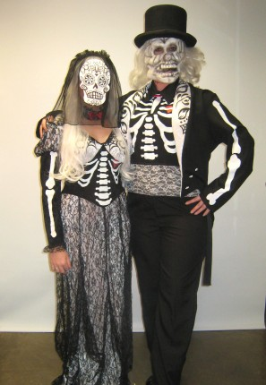 bride and groom day of the dead