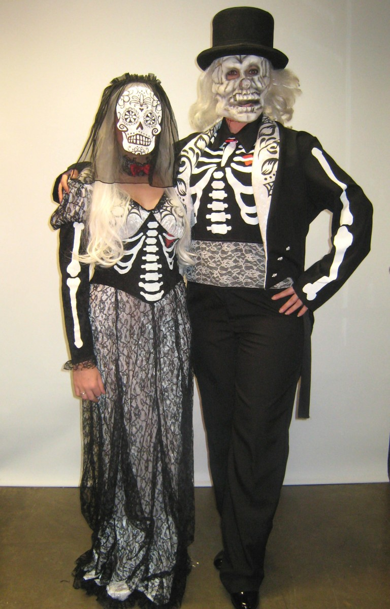 Day of Dead Bride And Groom