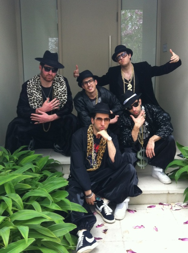dc9071602f3d Plenty of bling in these great costumes comes with black jacket hat gold  chains rings glasses