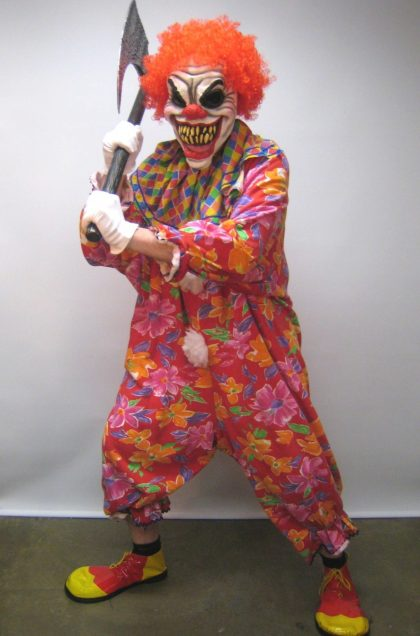 Horror clown costume
