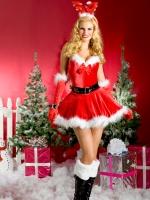 santa dress reindeer