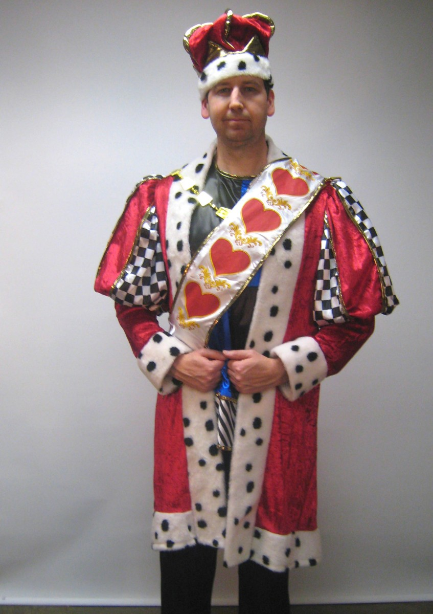 Great King of hearts costume for hire. Perfect for a fairytale theme party. costume consists of king tunic with matching over tunic pants king sash and ...  sc 1 st  Creative Costumes & King of Hearts costume -Creative Costumes