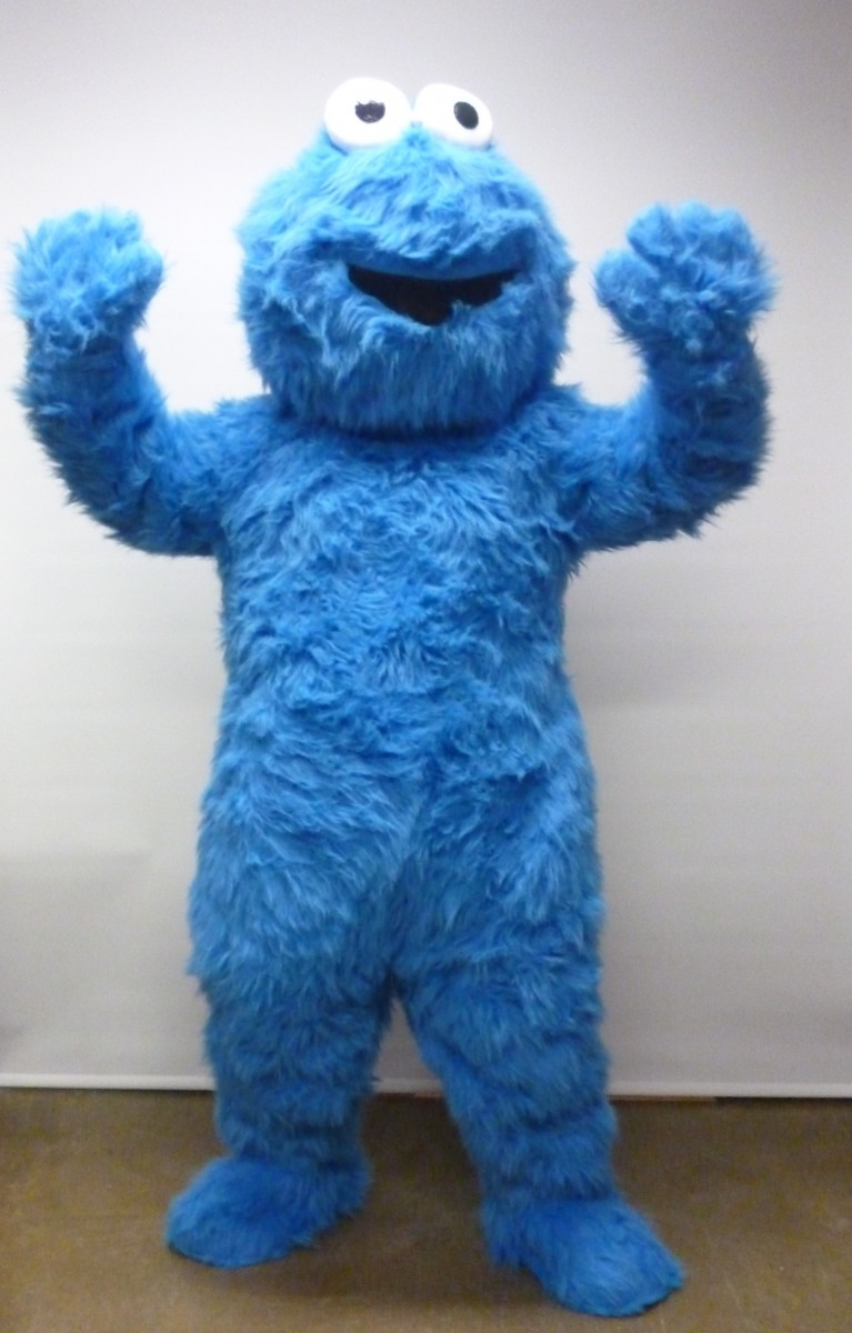 This Cookie Monster costume is very cute for a young child and is very comfortable to wear with plush on both the outside and inside of the costume