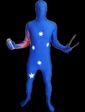Aussie Flag Morphsuit