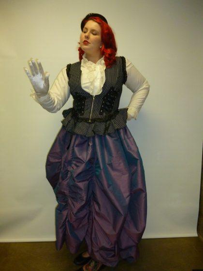 modern victorian riding lady