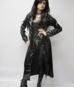 Leather woman gothic
