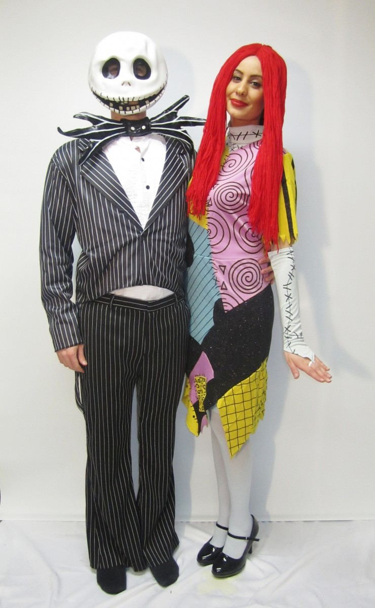 Jack Skellington & Sally from Nightmare Before Christmas Costume ...