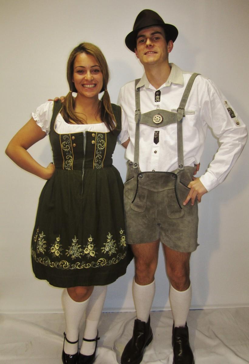 Traditional German Lederhosen Couple Costume Creative