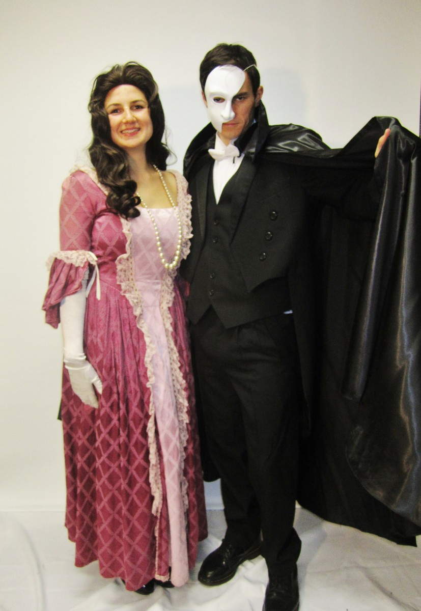 b2f5cc9b3eae4 Phantom of the Opera Couple Costume -Creative Costumes