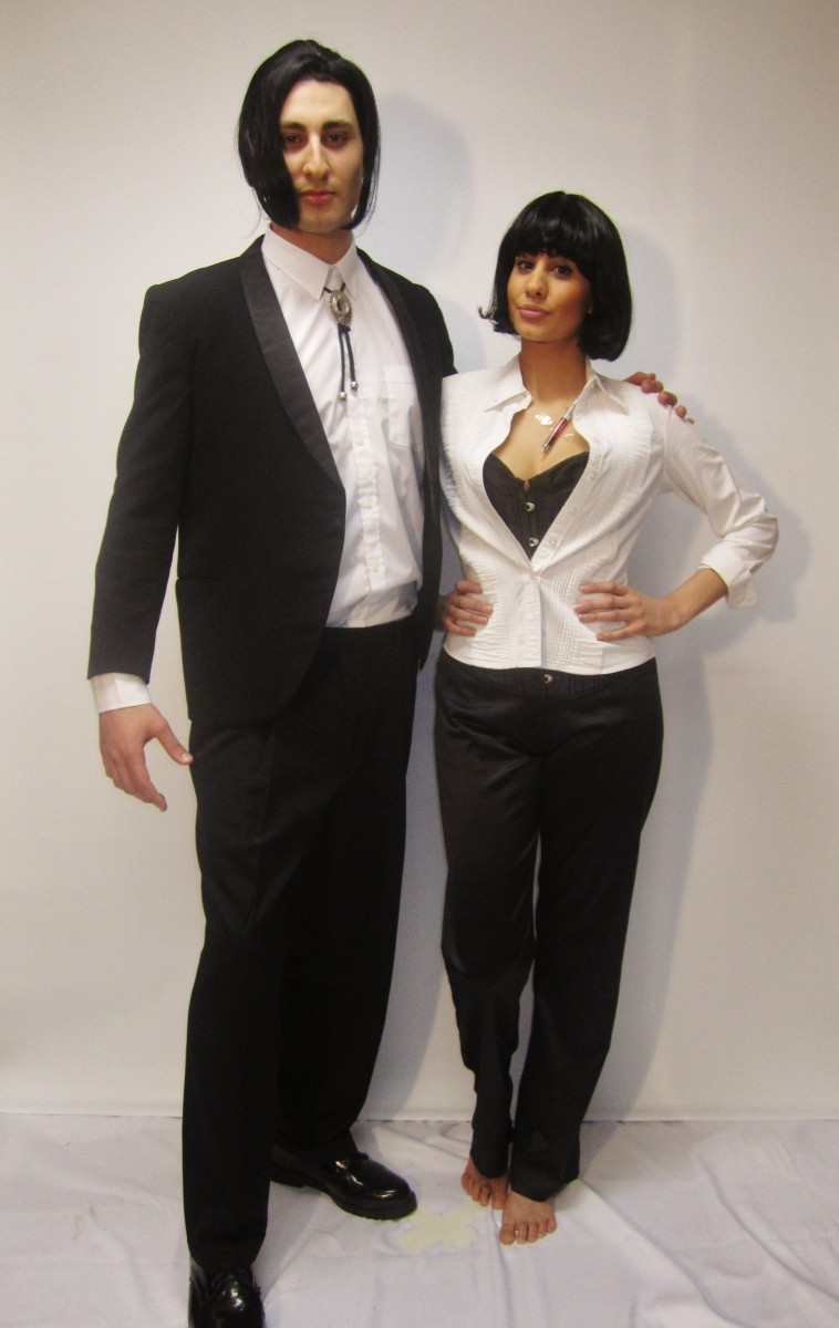 pulp fiction couple costumes creative costumes. Black Bedroom Furniture Sets. Home Design Ideas
