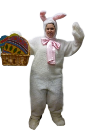easter bunny costume open face