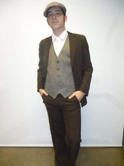 20s suit great gatsby brown suit