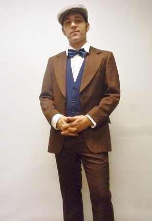 great gatsby brown suit 1920's