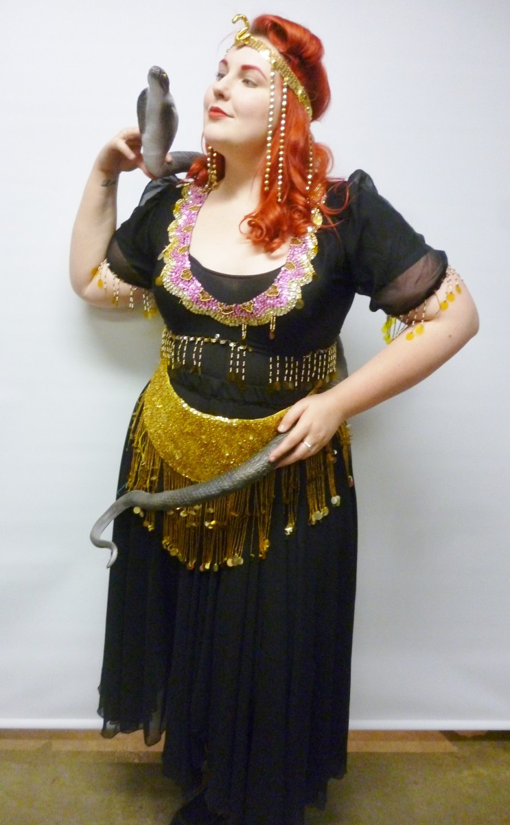This beautiful snake charmer costume would be ideal for a sideshow