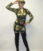 camouflage jumpsuit soldier