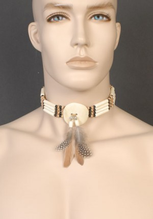 Beaded Choker Brown