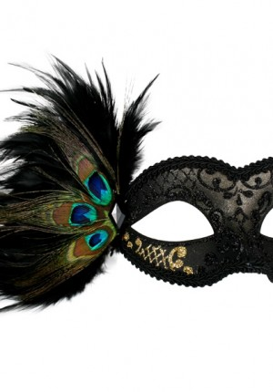 black gold masquerade mask