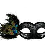 black silver masquerade mask