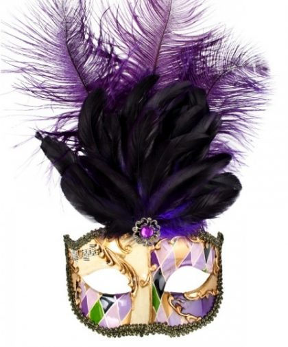 purple gold masquerade mask