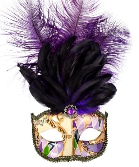 purple gold masquerade mask