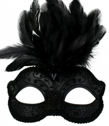 masquerade mask black