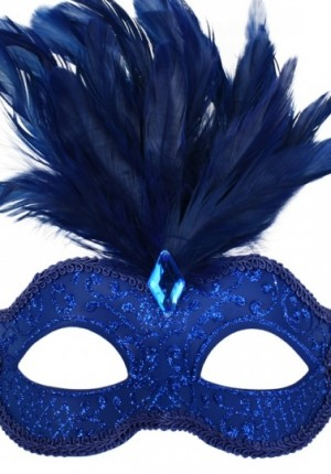 Masquerade blue mask
