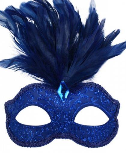 Masquerade blue mask