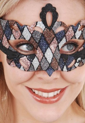 masquerade mask metallic