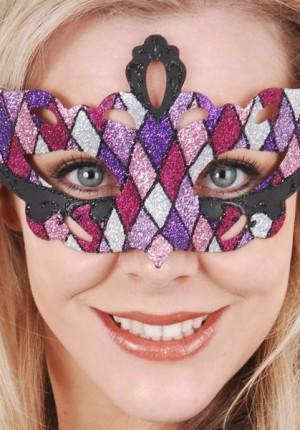 masquerade mask pin purple