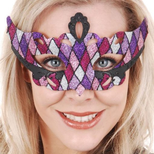 masquerade mask pin purple