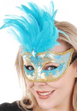 masquerade mask aqua