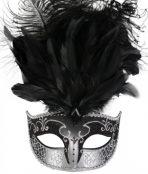 masquerade mask black silver