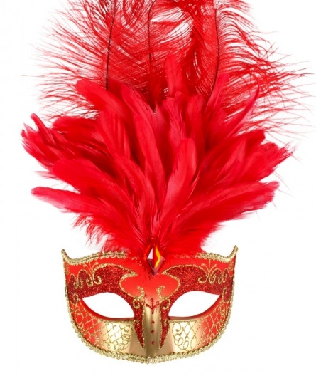 masquerade red gold mask