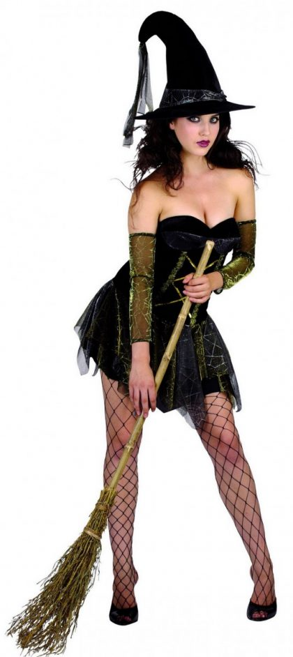 short witch girls costume