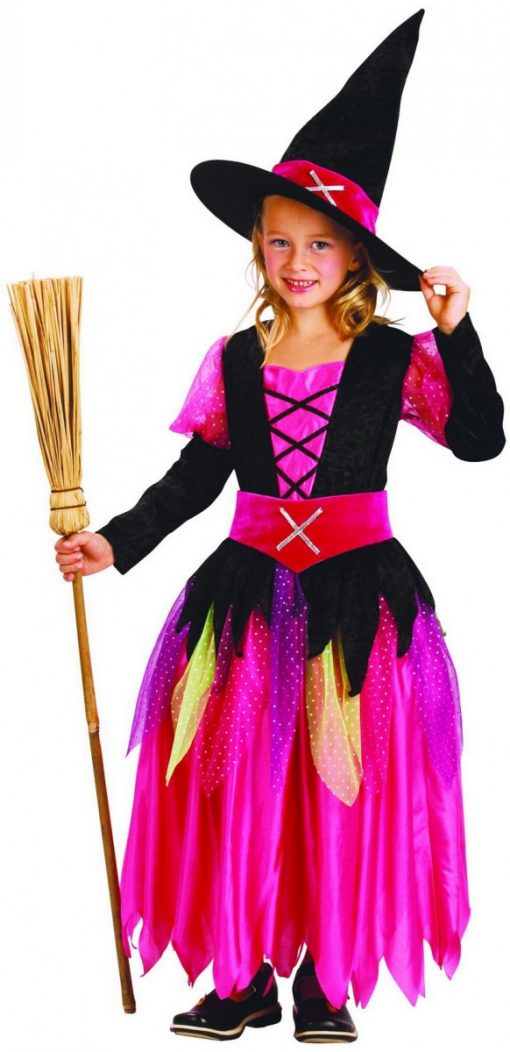 pink girls witch costume