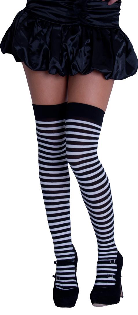 Black and white striped socks