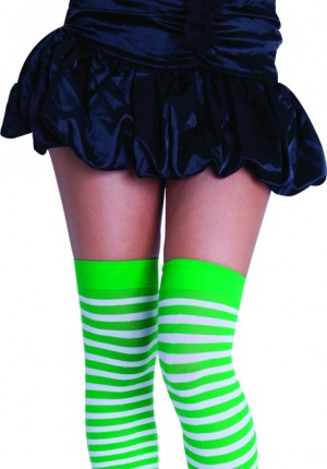green striped stockings
