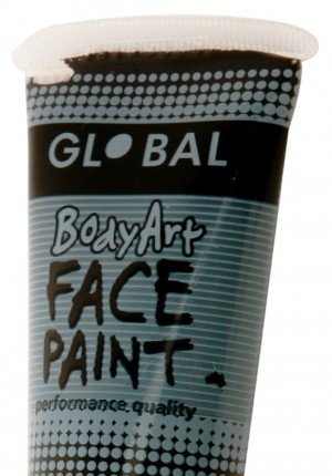 Black global face paint
