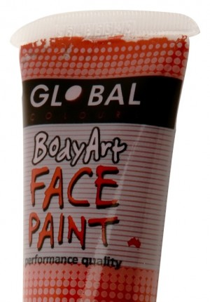 brown global face paint