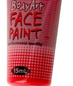 Deep red global face paint