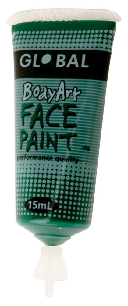 dark green global face paint